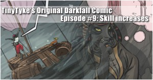 Darkfall Comic: Skill increases