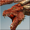 View Details on Dragon, Red